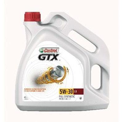 Castrol GTX, C4 Aceite de motor 5W-30, 5L, Aceite Sintetico