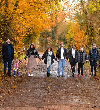 Multiple family portraits