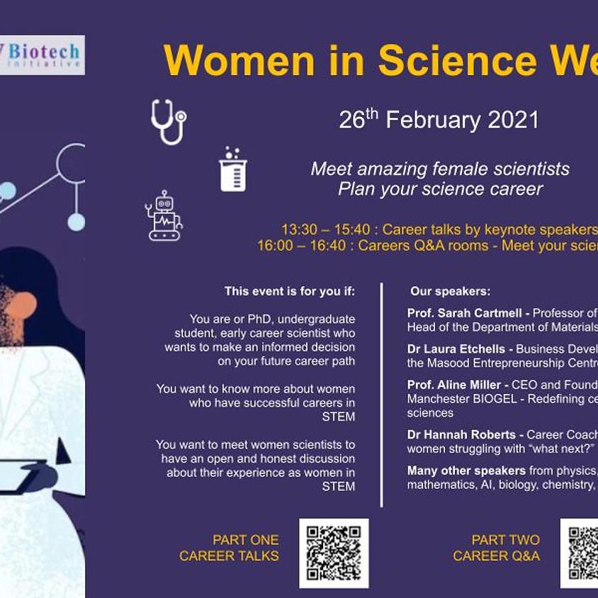 Women in Science. Part One: Webinar
