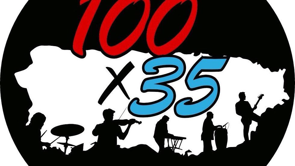 100x35 Sticker