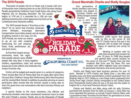 2019 Encinitas Holiday Parade!