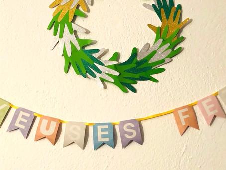 JOUR 5 - Guirlande de fanions - Calendrier de l'avent des décorations.