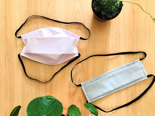 Masque lavable AFNOR - Bleu ou rose uni