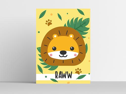 Lion - Affiche & Carte postale