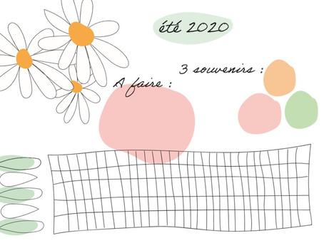 Positive summer 2020 : mon tracker de l'été