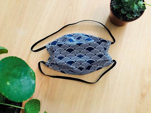 Masque lavable AFNOR - Bleu japonais