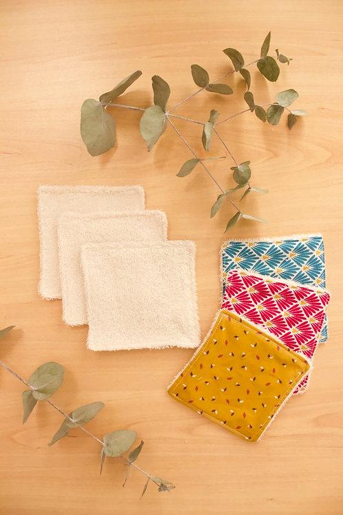 Lingettes démaquillantes lavables x8 - micro-éponge de bambou bio