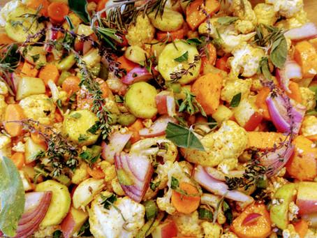 קדירת ירקות אביבית בתנור