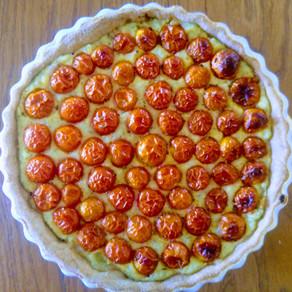 טארט עגבניות שרי טבעוני עם קרם קשיו
