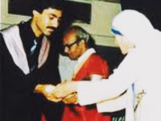 On March 24, 1984 Dr. Randeep Suneja was blessed by Mother Teresa