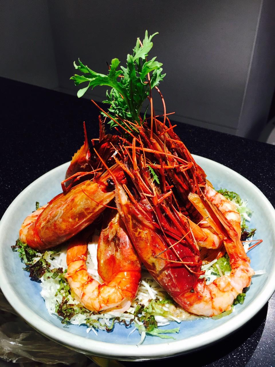 野生牡丹蝦沙拉