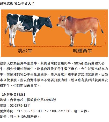台灣牛有幾種?(點圖看詳細)