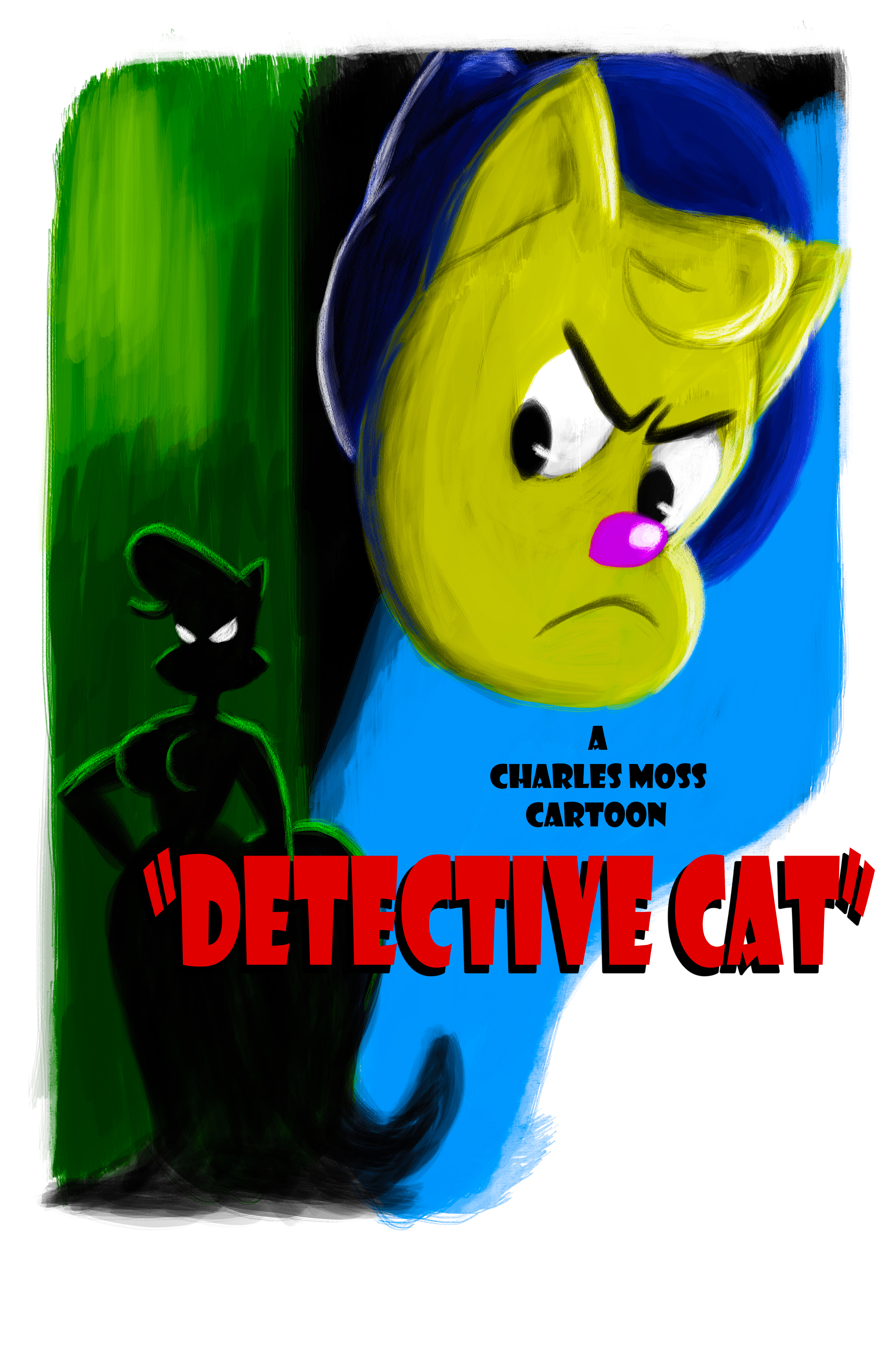 Detective Cat Poster