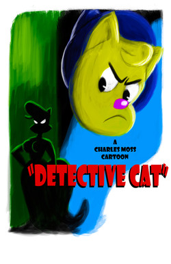 Detective Cat Poster