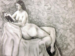Transfiguration, Pencil on Paper, Figure Drawing