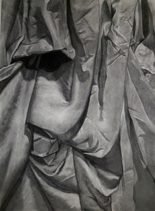 Drapery, Charcoal on Paper, Drawing I