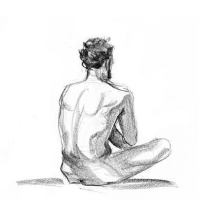 Sustained Gesture, Charcoal on Paper, Figure Drawing