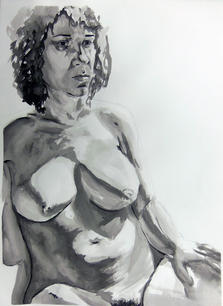 India Ink on Paper, Figure Drawing II