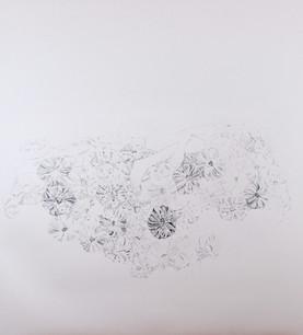 """Respite graphite and colored pencil on paper 47 x 42"""" 2017"""