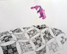 """Dream graphite & colored pencil on paper 15 x 19"""" 2016"""