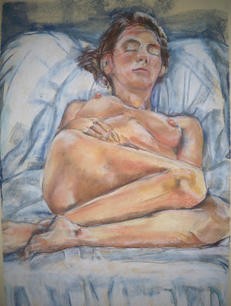 Color Studies, Pastel on Paper, Figure Drawing II