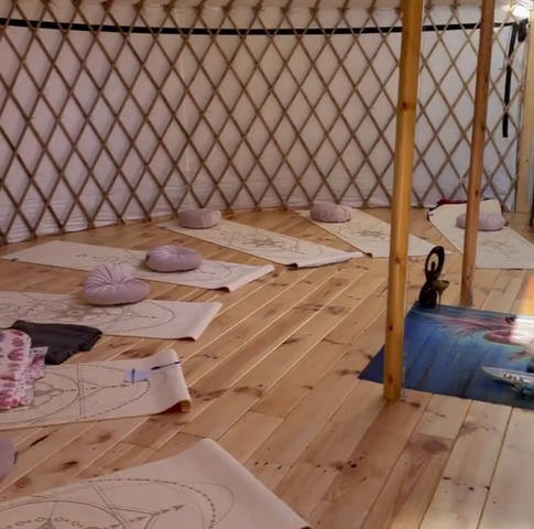 our Yurt: lay down and close your eyes