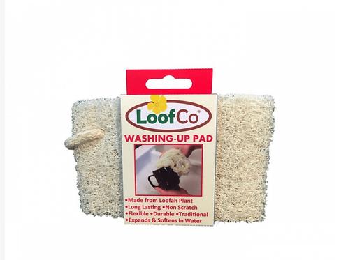 Loofa washing up pad