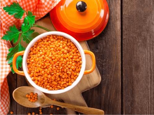 Red split lentils