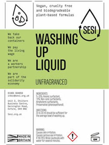 Washing up liquid scented