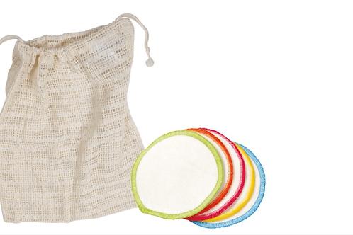 Organic reusable cotton makeup remover pads