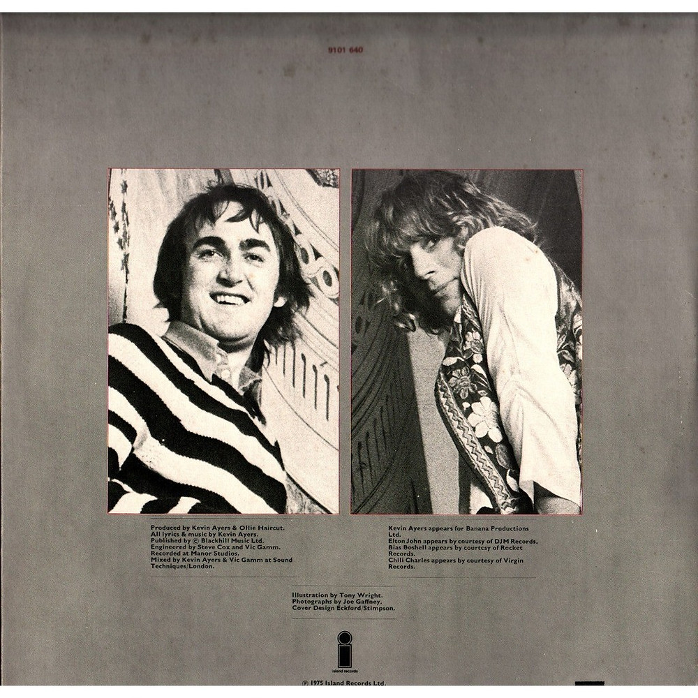 Kevin Ayers y Ollie Halsall, contraportada