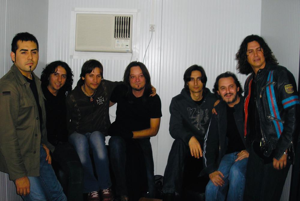 Con Jaguares en Zaragoza en 2005