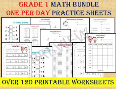 Grade 1 Math Bundle