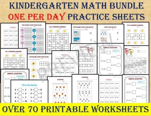 Kinder Math Workbook