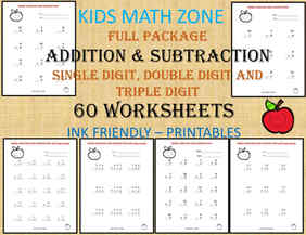 Addition and Subtraction Grade 1 to 4