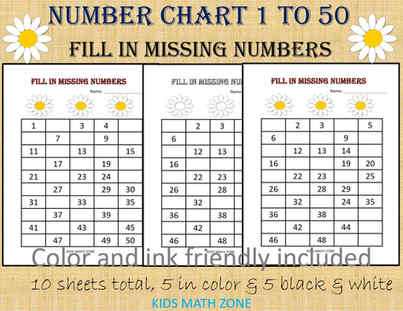 Missing Numbers, Number Chart