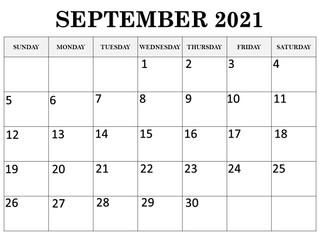Calendar September 2021
