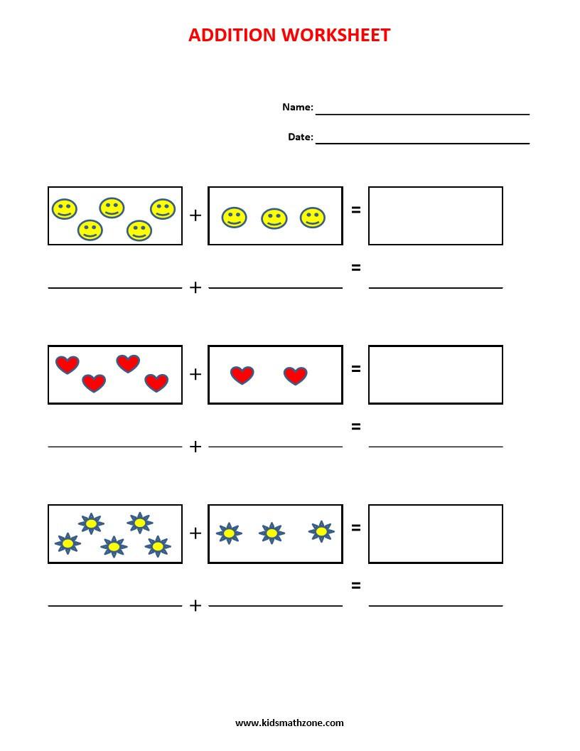 Addition pre-k & kindergarten | Kids Math Zone