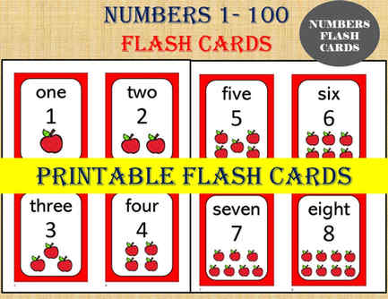 Numbers 1 to 20 Flash Cards