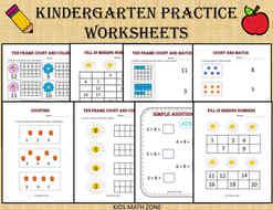 Kidergarten Practice worksheets