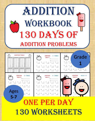 Addition workbook for Grade 1