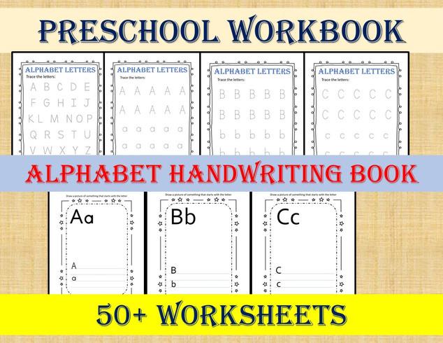 Preschool Workbook - Alphabet Handwritting Book