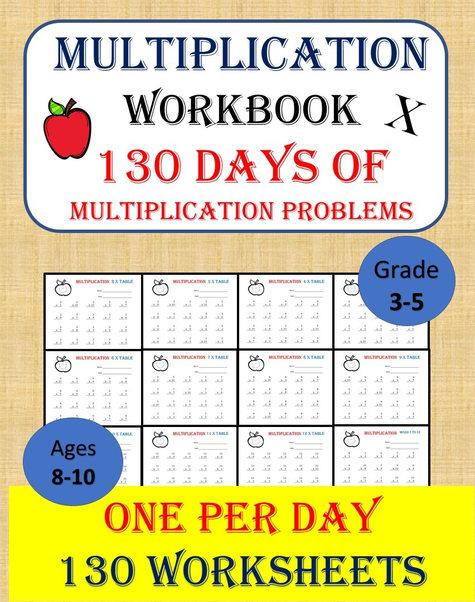 Multiplication Table Workbook