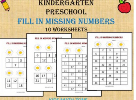 Kindergarten and Preschool Worksheets