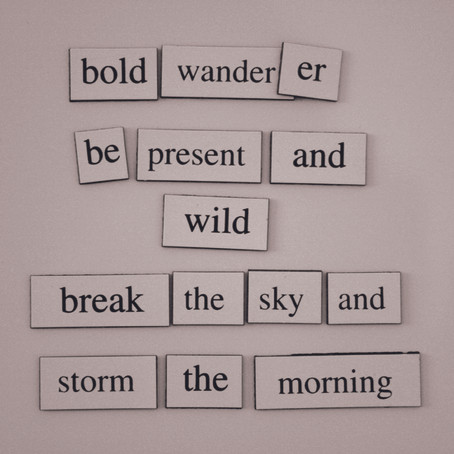 FRIDGE POETRY