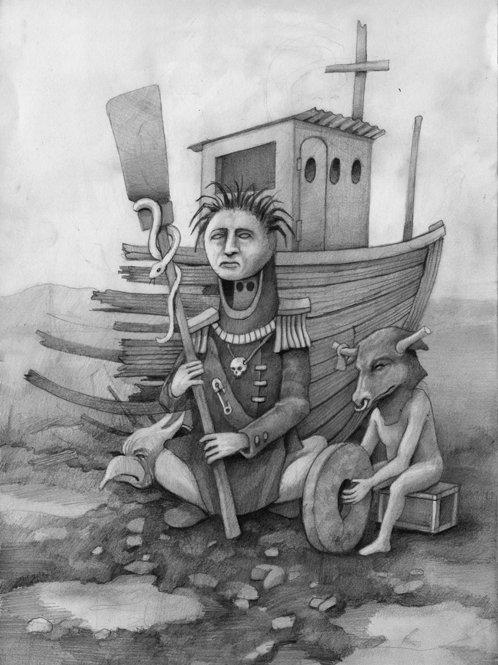 Admiral Shambo - A3 pencil drawing