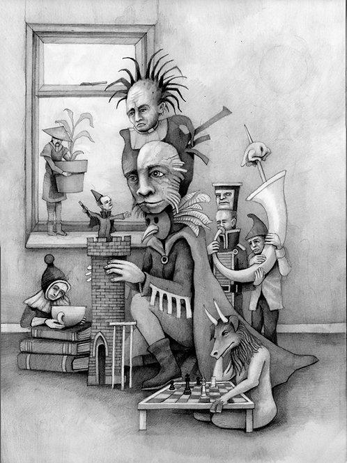 Gambits & Trumpets - A3 pencil