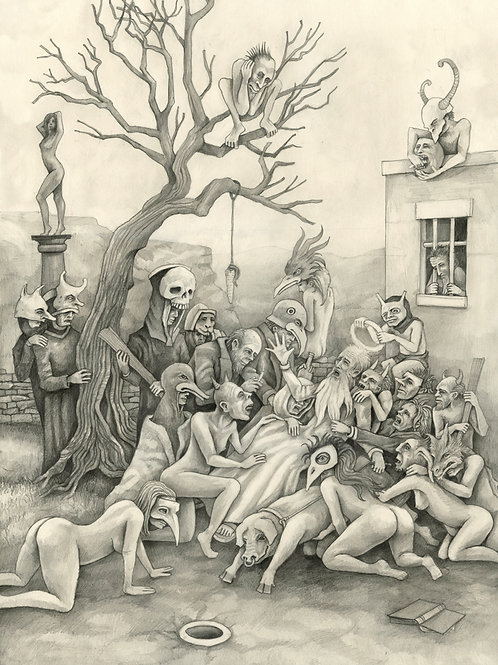 The Temptation of St.Anthony - A2 pencil drawing