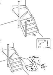 Сборка ступеней на маршевой деревянной лестнице