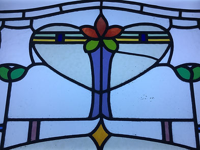Stained glass salvage yard find Aberdeenshire